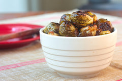 Roasted Brussel Sprouts with Sherry-Mustard Vinagrette.  My Voice Vegan Recipes
