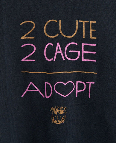 '2 Cute 2 Cage' Doggie Tee