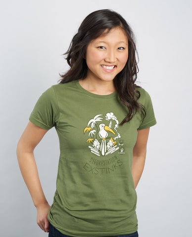 My Voice 'Deforestation ExStinks' Women's Organic Cotton Tee