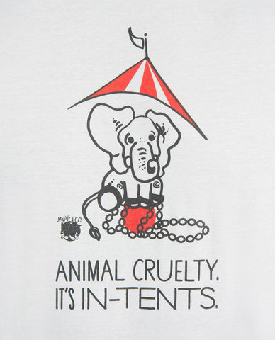My Voice 'Animal Cruelty It's In Tents' Men's Tee