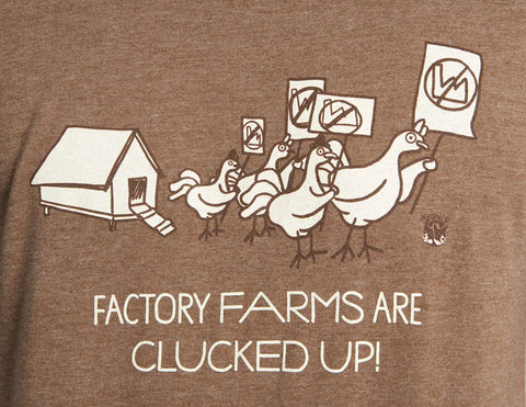 My Voice 'Factory Fams are Clucked Up' Men's Long Sleeve Tee