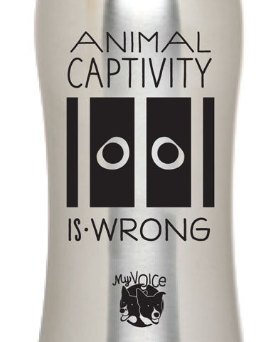 My Voice 'Captivity is Wrong' Sports Bottle