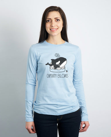 My Voice 'Captivity Blows' Women's Long Sleeve Tee