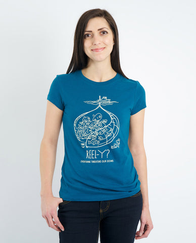 REEL-Y? Overfishing Threatens our Oceans Women's Short Sleeve Tee