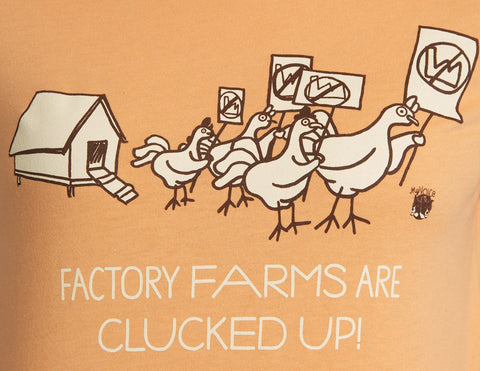 My Voice 'Factory Farms are Clucked Up!' Women's Tee