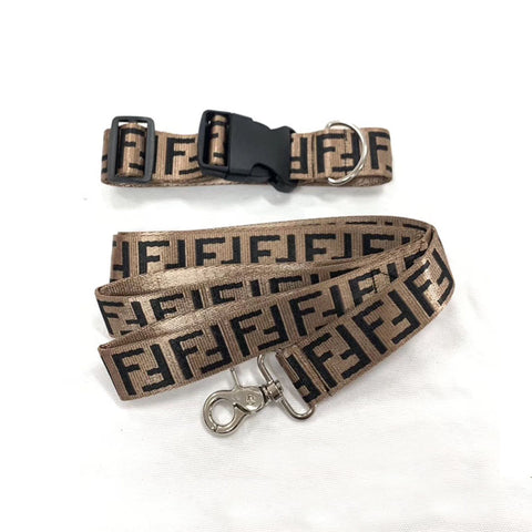 "PENDI ""Baller"" Leash & Collar set #93"