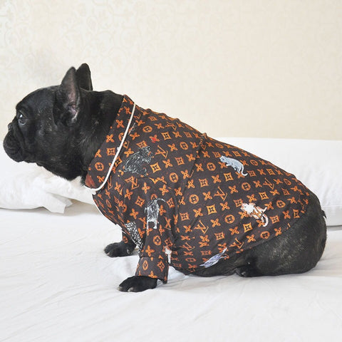 LVDOGGO monogram button-up Shirt #46
