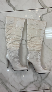 STALLION SATIN BOOT (WHITE)
