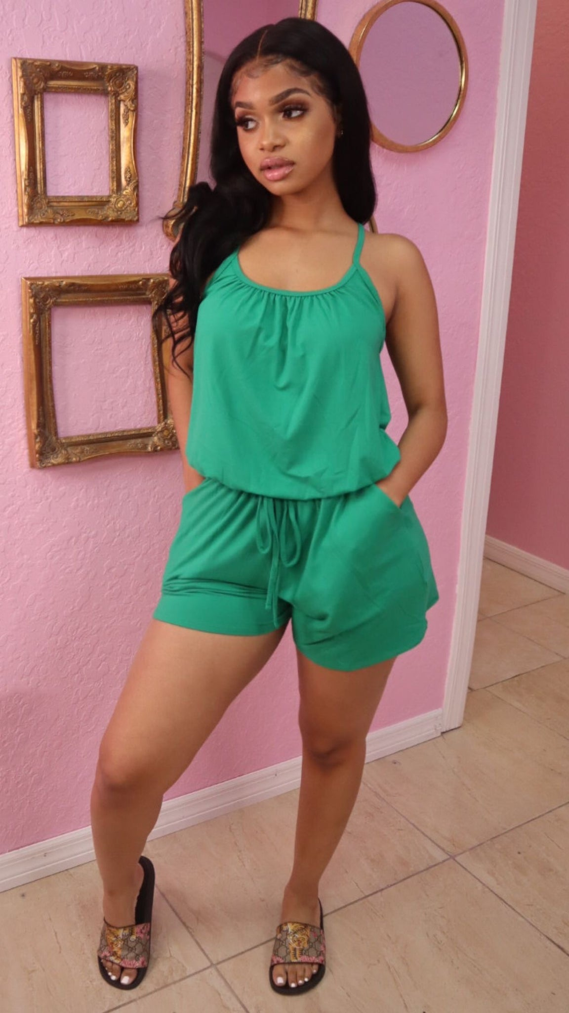 TORY CHILL ROMPER (GREEN)