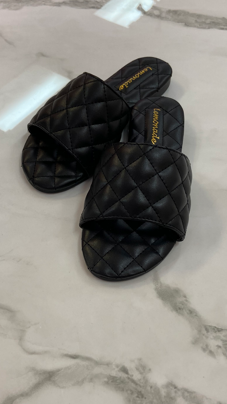CHANELLI SLIDES (BLACK)