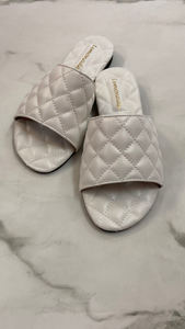 CHANELLI SLIDES (WHITE)
