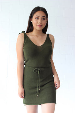 Ellie Knit Dress - Olive
