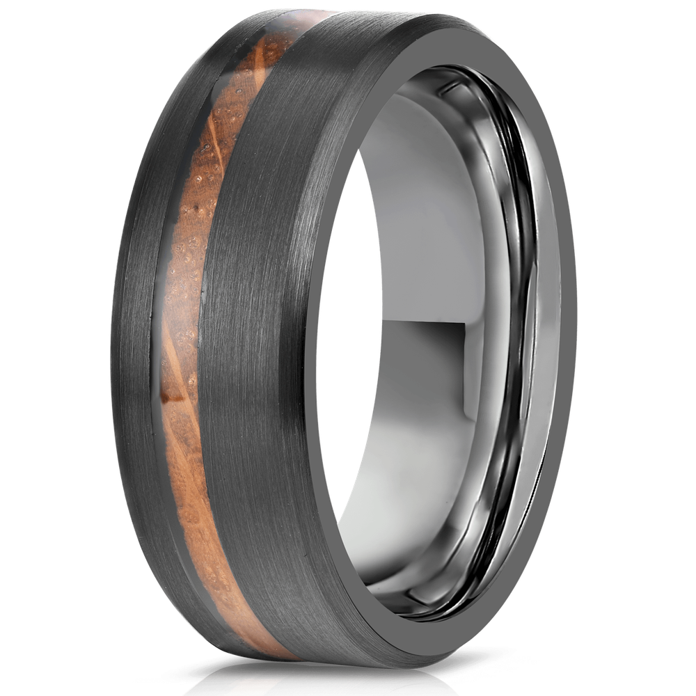 """Artemis"" Whisky x Gunmetal Tungsten Ring-Rings By Lux"