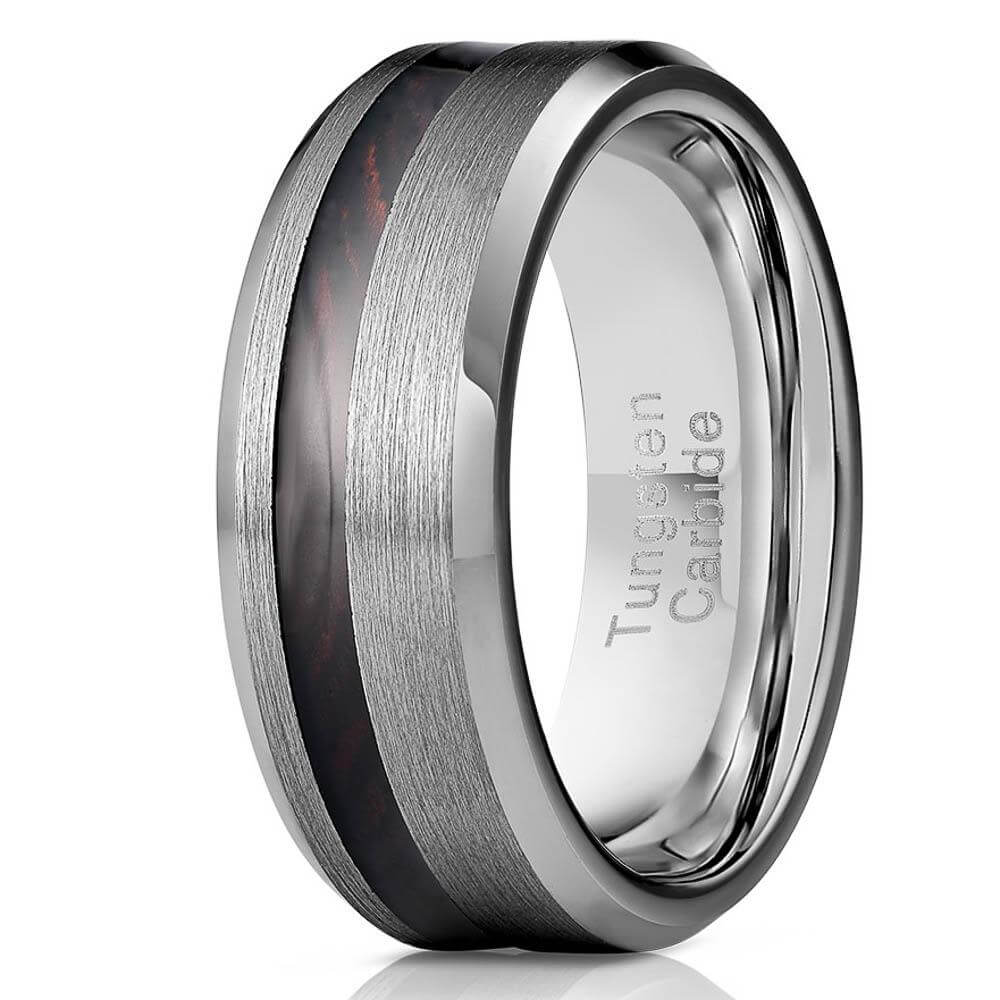 """Artemis"" Ironwood x Silver Tungsten Ring-Rings By Lux"