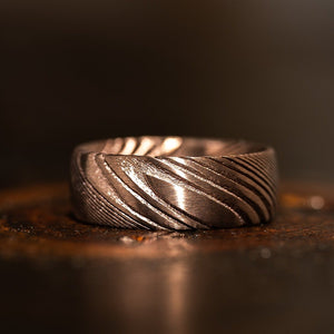 """Poseidon"" Coffee Plated Ring"