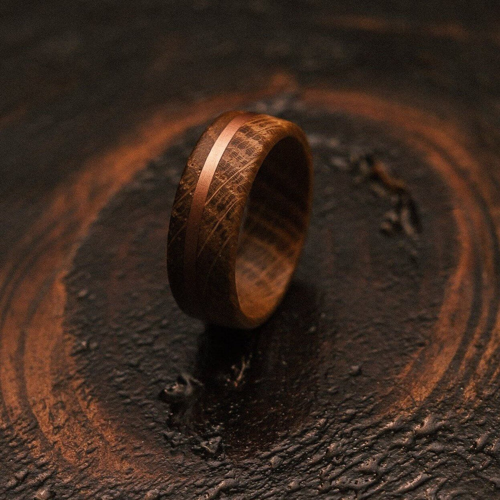 """Circe"" Whiskey Barrel X Copper Ring-Rings By Lux"