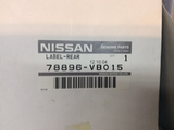 Nissan Patrol GU Genuine ST4500 Decal New Part
