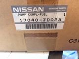 Nissan Dualis Genuine Fuel Pump Complete New Part