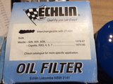 Echlin new oil filter Suitable for Mazda RX3/5/7 also fits 626/929/929L new part
