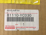 Toyota Camry Genuine right hand headlight new part