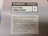 Nissan Navara D40M/R51 Pathfinder Genuine Fuel Filter New Part