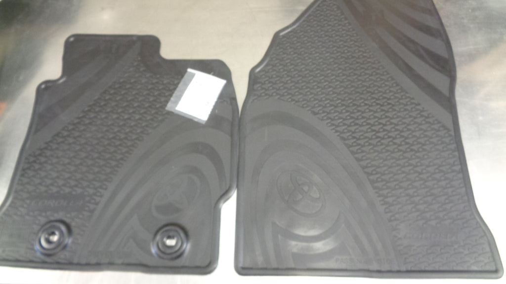 Toyota Corolla Hatch Genuine Front Rubber Floor Mats New Part