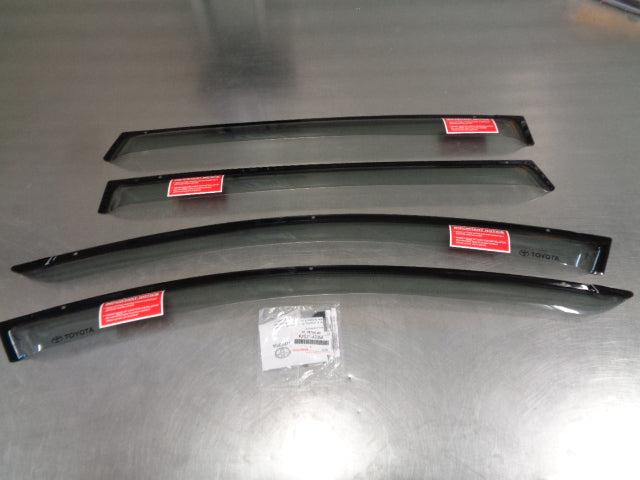 Toyota RAV4 Genuine Slimline Weathershield Set Of 4 New Part