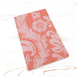 Limited Edition: Papillon Flora Letterpress Notebook Block Printed Notebook Papillon Press Rust