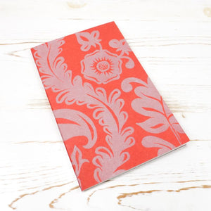Limited Edition: Papillon Flora Letterpress Notebook Block Printed Notebook Papillon Press Pumpkin