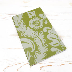 Limited Edition: Papillon Flora Letterpress Notebook Block Printed Notebook Papillon Press Moss