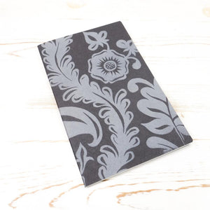 Limited Edition: Papillon Flora Letterpress Notebook Block Printed Notebook Papillon Press Slate