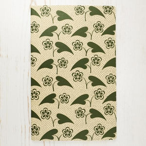 Fleur et Coeur Letterpress Notebook Block Printed Notebook Papillon Press