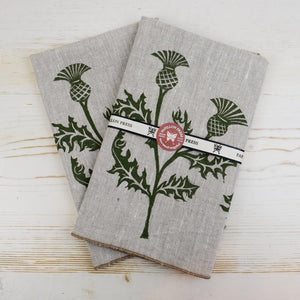 Thistle Linen Napkins Linen Napkins Papillon Press