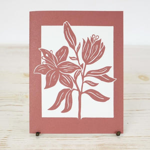 Day Lily Letterpress Card Greeting Card Papillon Press