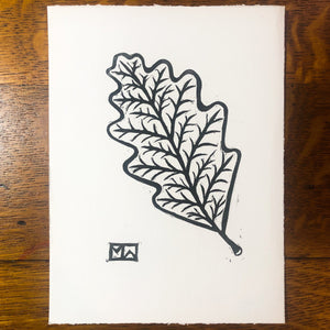 Oak Leaf Fall Print Art Print Papillon Press No