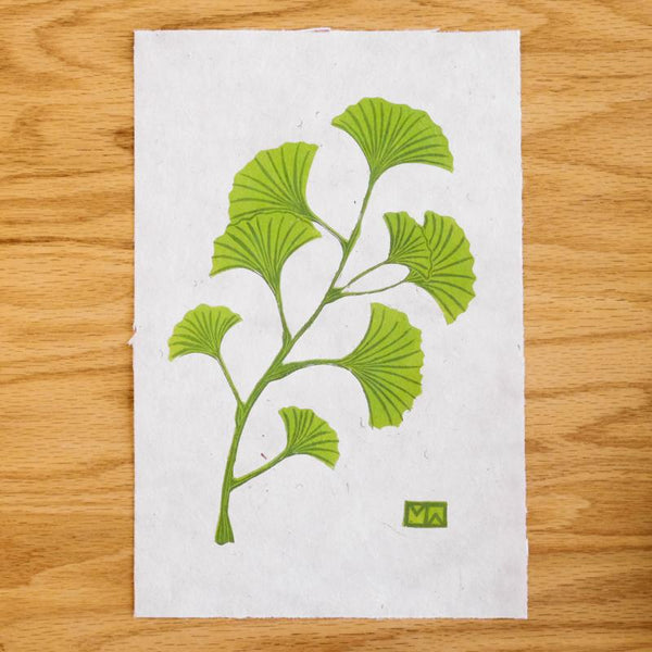 Ginkgo Reduction Print Art Print Papillon Press
