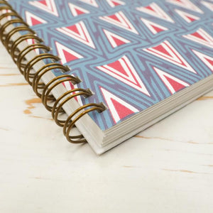 German Lancet Wire Bound Notebook Block Printed Notebook Papillon Press