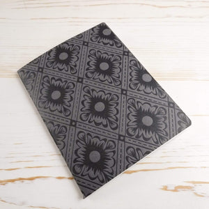 Italian Diamond Mini Notebook Block Printed Notebook Papillon Papers Slate Grid