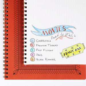 Ornamental Frame Wire Bound Notebook - Large Wire Bound Notebook Papillon Papers