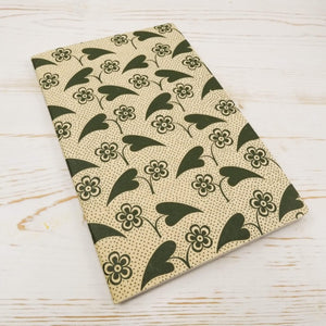 Fleur et Coeur Block Printed Notebook Block Printed Notebook Papillon Press Blank No Label