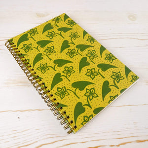 Fleur et Coeur Wire Bound Notebook Block Printed Notebook Papillon Press