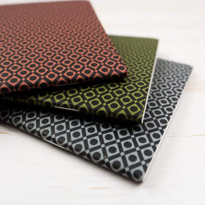 Geo-Diamond Mini Notebooks: Set of 3
