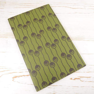 Dutch Pearls Block Printed Notebook Block Printed Notebook Papillon Press Moss No Label Lines