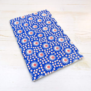 French Pinwheel Block Printed Notebook Block Printed Notebook Papillon Press No Label Égalité Lines