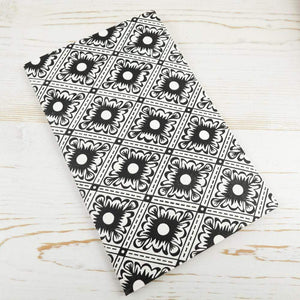Italian Diamond Block Printed Notebook Block Printed Notebook Papillon Press No Label Lines Black