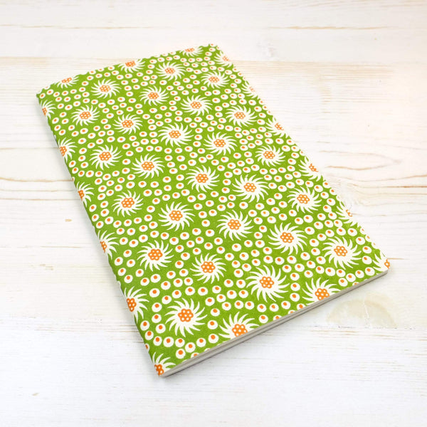 French Pinwheel Block Printed Notebook Block Printed Notebook Papillon Press No Label Printemps Grid