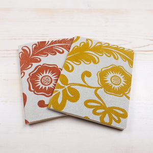 Papillon Flora Mini Block Printed Notebook