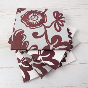 Papillon Flora Mini Square Notebook Block Printed Notebook Papillon Press
