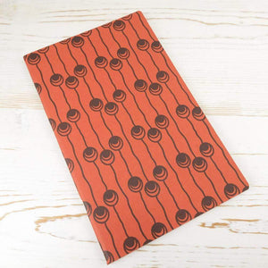 Dutch Pearls Block Printed Notebook Block Printed Notebook Papillon Press Pumpkin No Label Lines