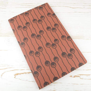 Dutch Pearls Block Printed Notebook Block Printed Notebook Papillon Press Rust No Label Lines
